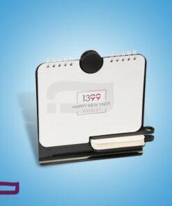 تقویم رومیزی Z7257 دارای جای یادداشت، خودکار و استند موبایل