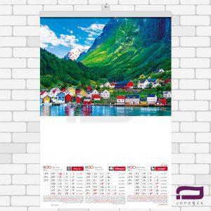 تقویم دیواری چهار برگ کوچک O505
