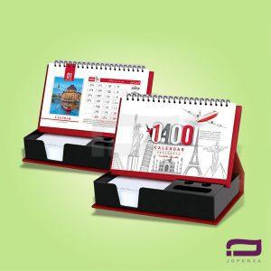 تقویم رومیزی رومیزی یادداشتی O65 با جای خودکار
