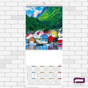 تقویم دیواری تک برگ O901